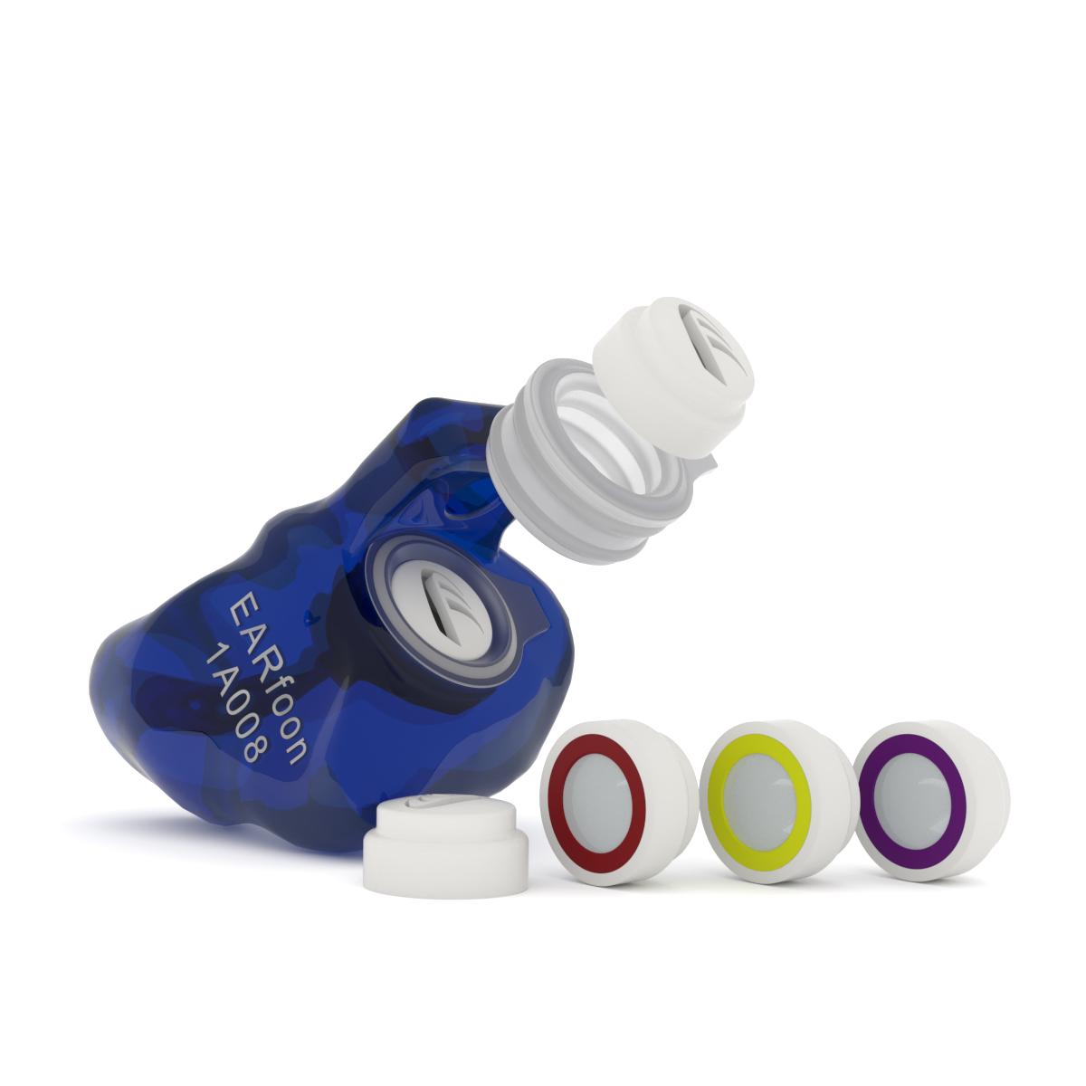 Angepasster Gehörschutz | BlueFit-X mit Wechselfiltern
