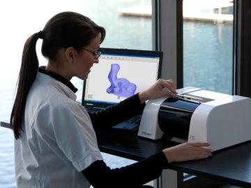 3D Scan Ohrabdruck